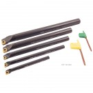 "5 PIECE SCLCR INDEXABLE BORING BAR SET (5/16-3/8-1/2-5/8 & 3/4"") (1001-0023)"