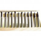 "12 PIECE 1/4"" SHANK DOUBLE CUT CARBIDE BURR SET (3000-0012)"