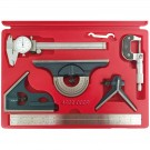6 PIECE TOOL KIT CALIPER, MICROMETER, COMBINATION SQUARE (4902-0009)